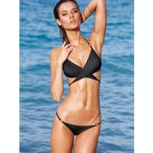 Victoria's Secret PINK Olive Wrap Top Bikini Set